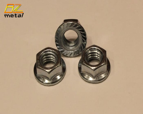 DIN6923 Titanium Serrated Hex Flange Nuts