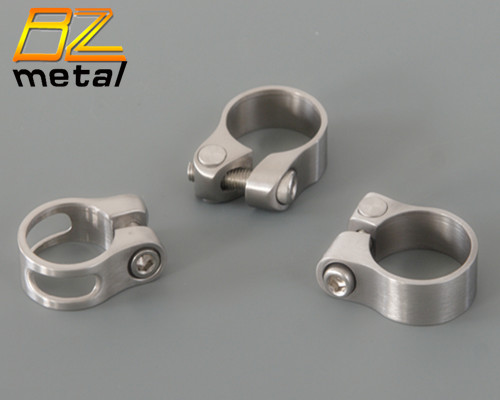 CNC Machining Titanium Seat Post Clamp Bicycle Cycling