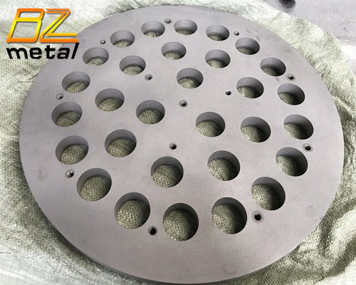 Titanium Machined Plate with Lazer Cutting Holes