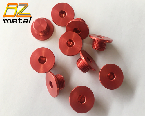 Customized Anodized Aluminum Bolts