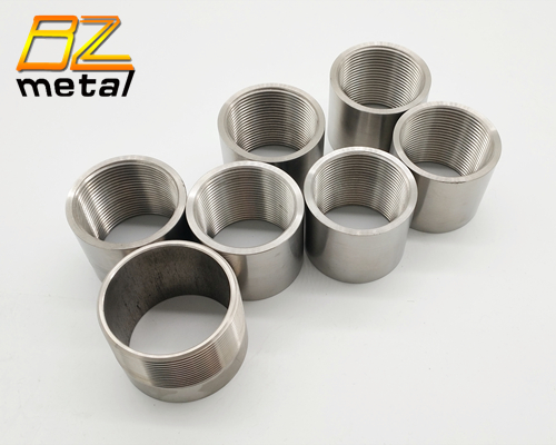Custom Machining CNC Titanium Male Threaded Bushing Tube Sleeve