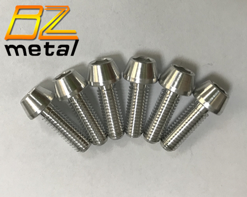 Hot sale Aluminum taper head DIN 912 bolt