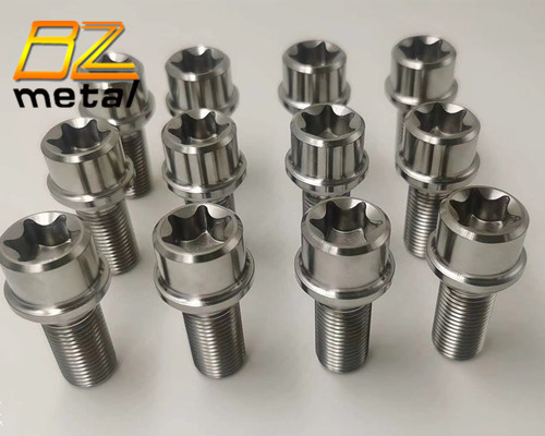 Titanium Mercedes and Audi style  lug bolt M14 x 1.5 titanium wheel bolts and nuts