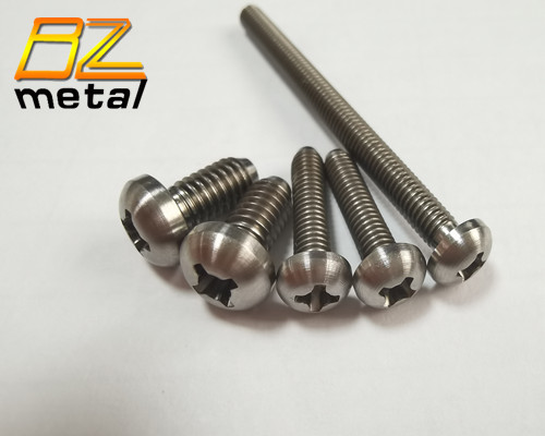 High Quality Titanium Button Head Screw with Phillips