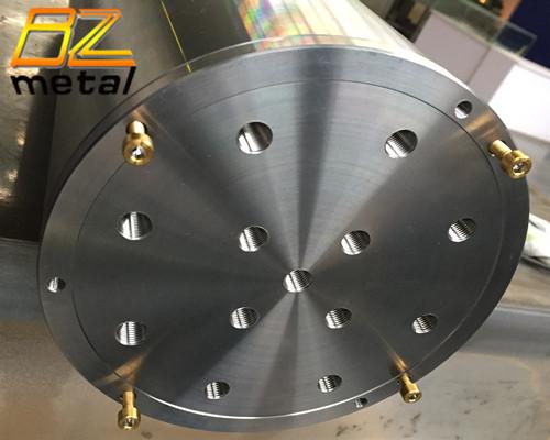 Custom CNC precision titanium shell of the detector