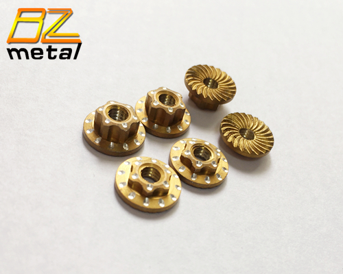 Aluminum Alloy Wheel Nuts in Golden Color with High Quality