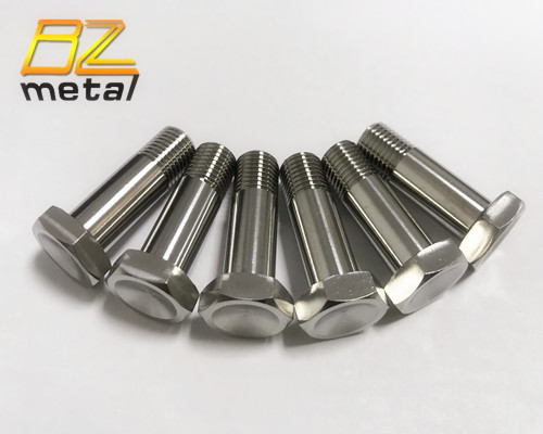 DIN933 GR1 GR2 GR5 titanium Hexagon head bolt