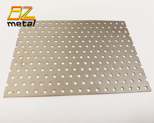 Precision laser cut Gr2 Gr5 perforated titanium sheet