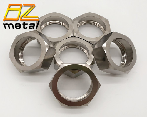 DIN934 GR2 GR5 Titanium Hex Nuts