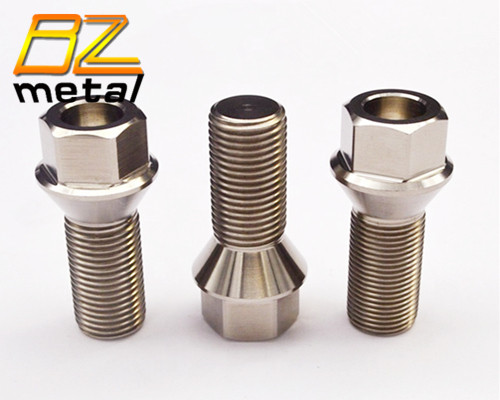 Titanium auto lug bolt m14 x 1.5 titanium wheel bolts and nuts