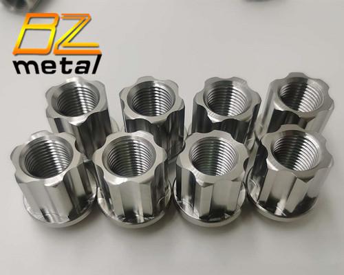 Gr5 M12*1.5 M14*1.5 Titanium wheel bolts lug nuts color nuts for racing car
